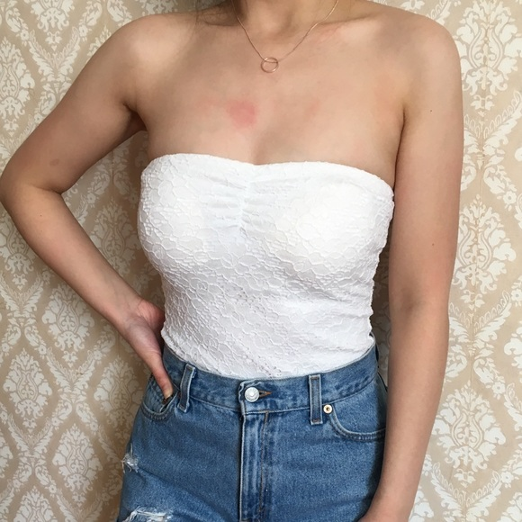 6e329142d81 white lace tube top